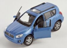 Livraison rapide toyota rav 4/rav4 bleu/Blue welly modèle auto 1:34 NOUVEAU & OVP