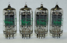 4 x  12ax7 Sylvania - Baldwin Tubes * Long Grey Plates *O getter*Match*