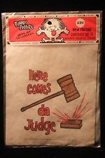"Vintage 1960's ""Here Comes da Judge"" Iron On Transfer Hippies TV Laugh In SEALED"