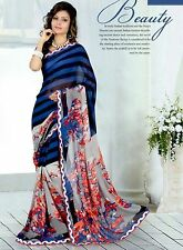 Stylist Multi Color Printed Chiffon Saree with a Blouse D.No RK2005