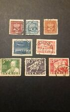 Swedish stamps- 1925-1936 crown and coachhorn, air-mail