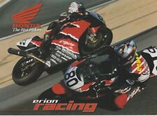 1999 Erion Racing Honda CBR900RR AMA Supersport T/S postcard NICKY HAYDEN