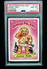 GARBAGE PAIL KIDS 1986 3rd Series 114b Peepin' Tom NO COPYRIGHT OS3 Graded PSA 8