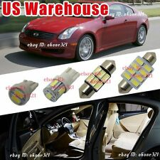 9-pc Luxury White LED Interior Lights Package Kit For 03-07 Infiniti G35 Coupe