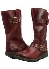 Fly London Sami Rug Cordoba Red Women's Biker Boots [334] UK 3 P144169001