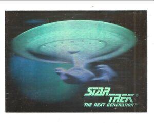 1992 SkyBox Star Trek U.S.S. Enterprise 05H Starship Foil Hologram nm / minty