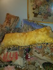 Amazing georgian 1800c silk large long pillow stunning condition and colour