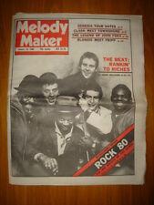 MELODY MAKER 1980 JAN 19 THE BEAT GENESIS CLASH BLONDIE