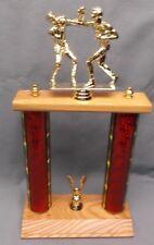 Boxer trophy 2 post red column wood base