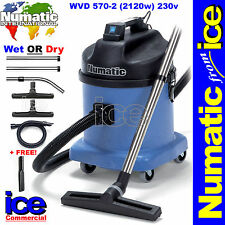 Numatic WVD570 Professional Wet/Dry Duplex Industrial Commercial Vacuum Cleaner