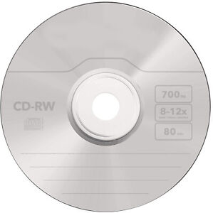10 SkyMedia CD-RW 4x - 12x rewritable blank discs CD RW High Ultra burn 80min