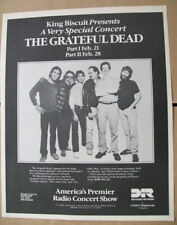 The Grateful Dead 1988 Ad- King Biscuit a very special concert