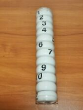12 Crate & Barrel White Ceramic Numbered Napkin Rings New In Package Unused