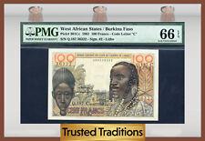 TT PK 301Cc 1961 WEST AFRICAN STATES / BURKINA FASO 100 FRANCS PMG 66 EPQ GEM