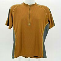 Pearl Izumi 1/2 Zip Brown Gray Short Sleeve Cycling Shirt Mens Large