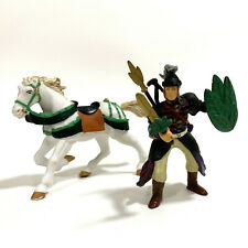 PAPO Royal Elf Leaf Knight (2006) + White Galloping Medieval Horse (2001) Loose