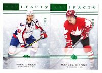 14-15 Artifacts Mike Green /99 EMERALD Capitals 2014