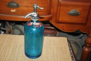 Antique Universal Bottling Company Blue Glass Seltzer Bottle New York