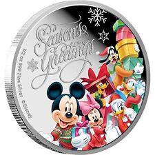 Disney $1 Dollar 1/2 oz Silver Proof Coin 2015 Season's Greetings Christmas Gift