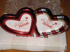 Double Heart Red and Gold Picture Frame Valentines Day Gift