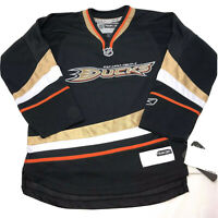 NWT Reebok NHL Black Anaheim Ducks Jersey Youth Kids Youth S/M