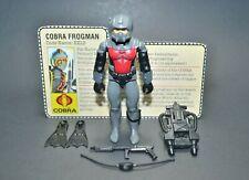 """GI Joe ARAH Eels 1985 3.75"""" 100% Complete w/File Card Hasbro Vintage Figure"""