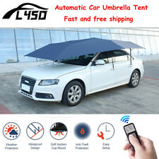 From US Gray Automatic Car Umbrella Tent Remote Control Anti UV Waterproof Cover
