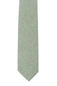 D'AVENZA Tie Silk Texturized Hand-Sewn in Italy Light Green / 57.87 inch