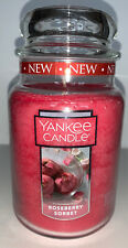 Yankee Candle ROSEBERRY SORBET 22 Oz Jar Candle / New 2020 Scent