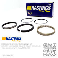 "+020"" HASTINGS MOLY PISTON RINGS 6 CYL RB30ET TURBO 3.0L [HOLDEN VL COMMODORE]"