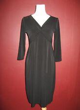 OLIAN solid black M v-neck w / twist 3/4 sleeve work cocktail versatile dress