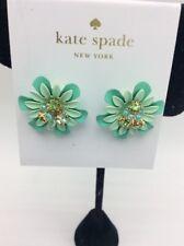 $48 Kate Spade  GREEN VIBRANT LIFE FLOWER STUD  earrings z40