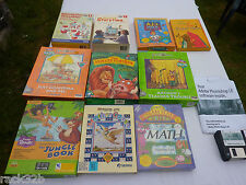 Vintage Very Rare DOS and Windows 3.0 and 3.1 Kids Boxed Software Unused BNIB