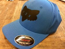 Fox Racing Traded Flex Fit Hat/Cap Curved Bill Acid Blue L/XL