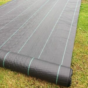 1m x 50m 100g Weed Control Ground Cover Driveway Membrane Landscape Fabric