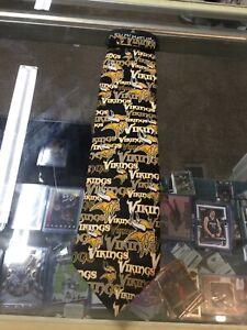 NWT Vintage Minnesota Vikings Ralph Marlin 100% Silk Neck Tie New With Tags!!!
