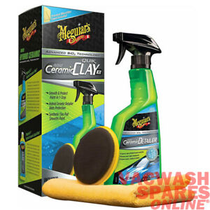 MEGUIARS HYBRID CERAMIC SYNTHETIC CLAY KIT - SMOOTH & PROTECT PAINT IN 1 STEP
