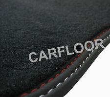 Für Renault Megane CC Bj. ab 6.10 Fußmatten Velours Deluxe schwarz mit Nubukband