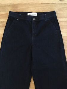 GAP Womens Dark Rinse Denim Super High Rise Wide Leg Trouser Jeans - Size 31