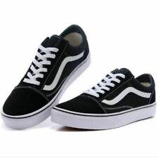 VAN Old Skool Skate Shoes All Size Black Classic Canvas Running Sneakers UK3-9.5