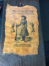 Buffalo Bills Wild West Miss Annie Oakley The Peerless Lady Wingshot ORIGINAL