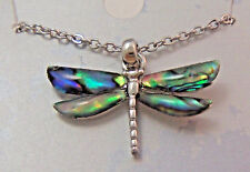 PAUA Shell abalone Nature's 1 Pendant Dragon Fly Wheeler Mfg. WMP 008 NEW