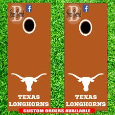 Texas Longhorns Cornhole Board Vinyl Decal Set of 6 Vinyl Decals Sticker corn