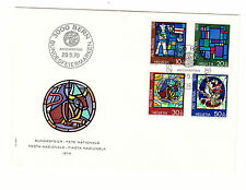 Schweiz  FDC Ersttagsbrief 1970 Kunst u. Kunsthandwerk  Mi.Nr.925-28