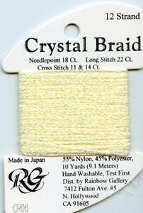 Rainbow Gallery Crystal Braid #CR06 Lemon Pearl Metallic Thread #12 15yds
