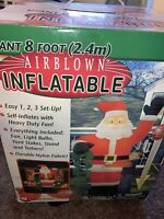 NEW Gemmy Christmas SANTA CLAUS 8 Foot Airblown Inflatable Lights Up! 8 Ft Tall