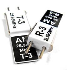 Transmisor 27mhz y Radio RC Cristal AM Set 27 Mhz 26.985 TX & RX Negro Ch 5