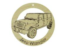 Jeep Wrangler Natural Maple Hardwood Ornament Sanded Finish Laser Engraved