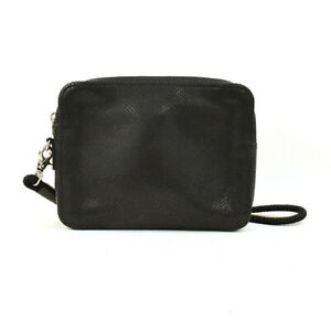 Alexander McQueen Authentic Mens Leather Clutch bag Black Used from Japan