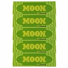 "Moon 5 booklets HEMP Cigarette Tobacco Rolling Papers 1.25"" 77*45mm"